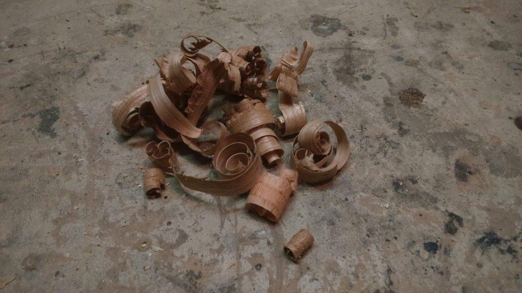 copeaux bague en bois