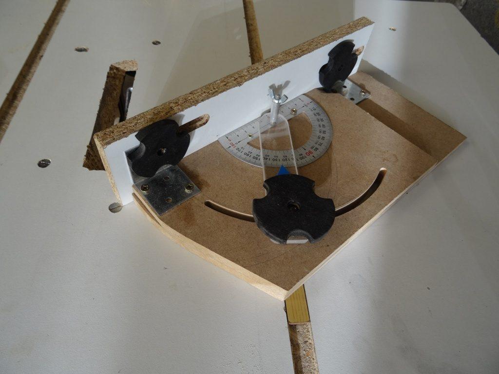 guide d'angle pour scie sur table