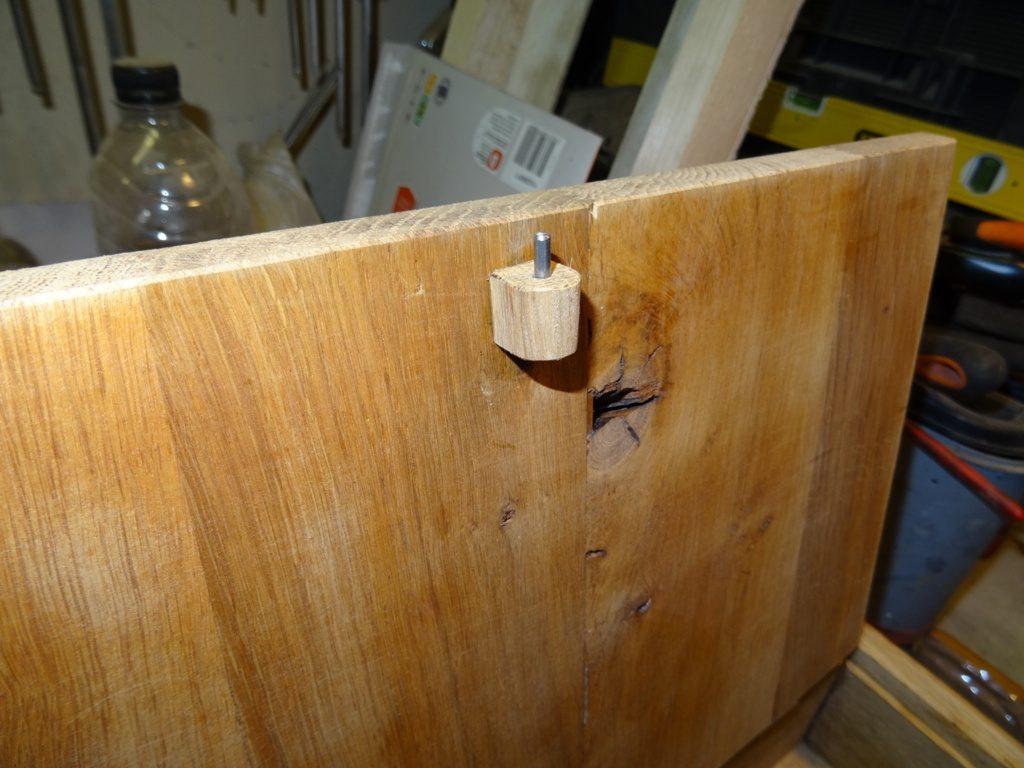fixation courvercle coffret bois