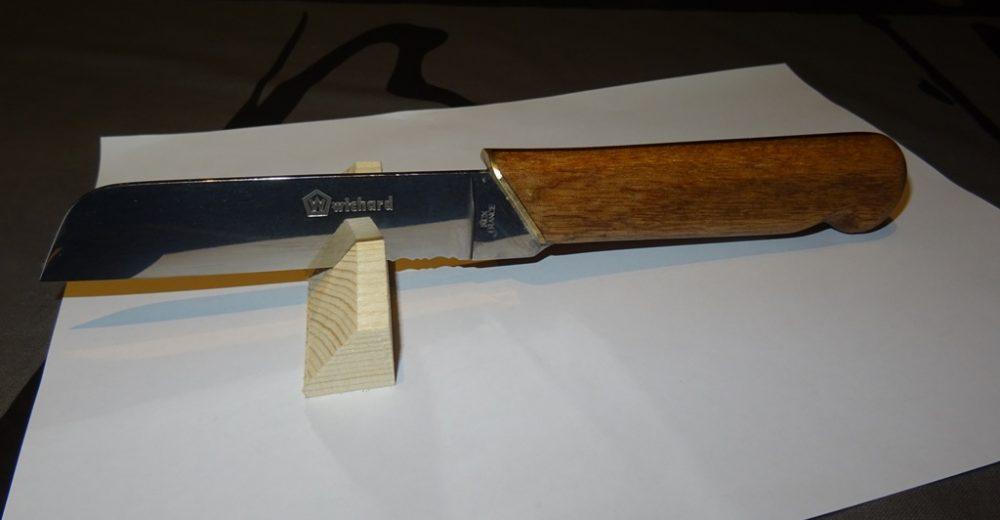 Couteau à lame fixe INOX et bois rouge