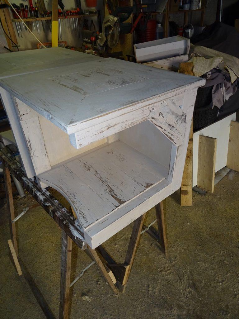 table de chevet en bois de palette